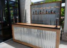 Corrugated Sheets Outdoor Bar