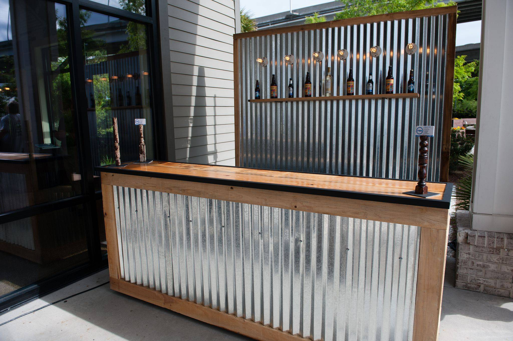 Corrugated Sheets Outdoor Bar