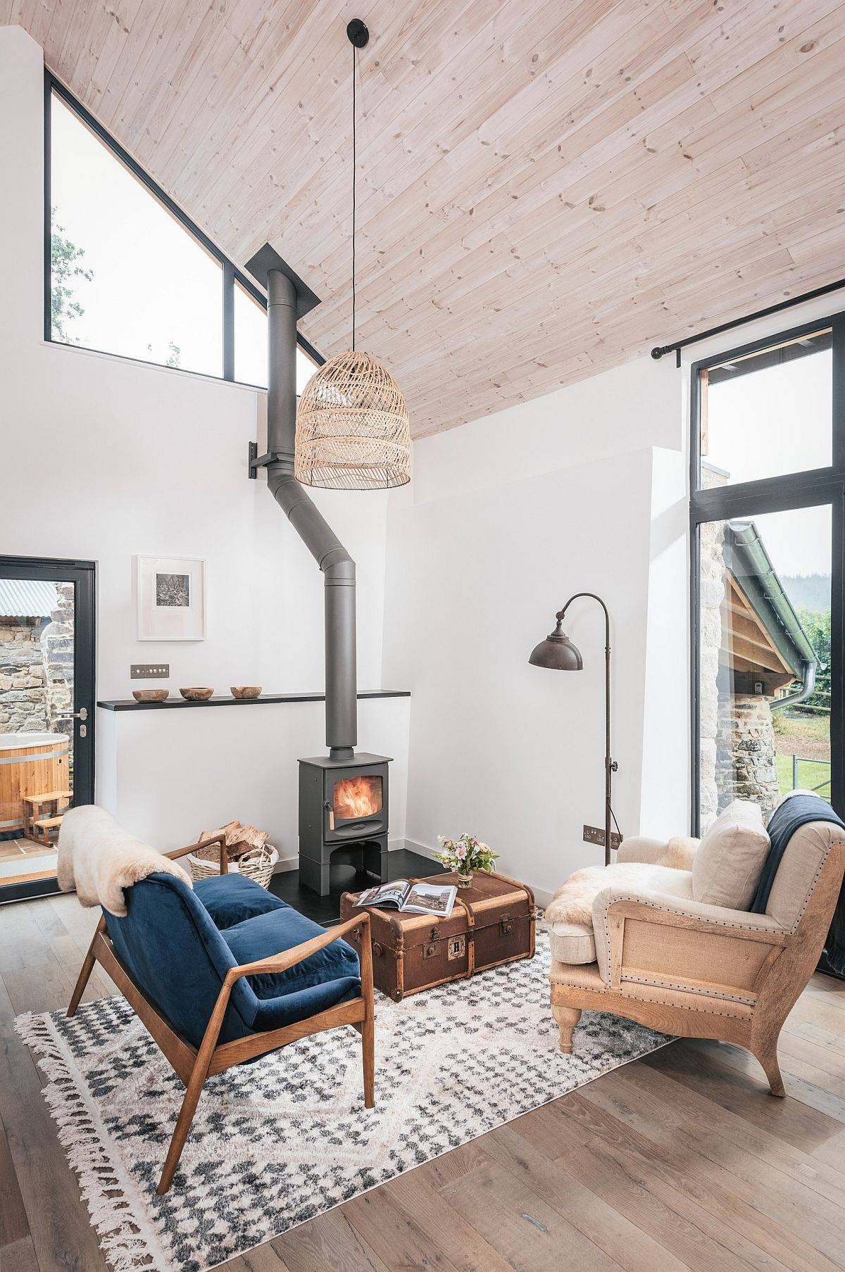 Custom-coffee-table-adds-an-interesting-visual-element-to-this-small-farmhouse-living-room-38699