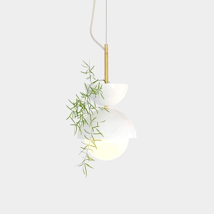 Elegant Hemisphere Pendant Planter from object interface