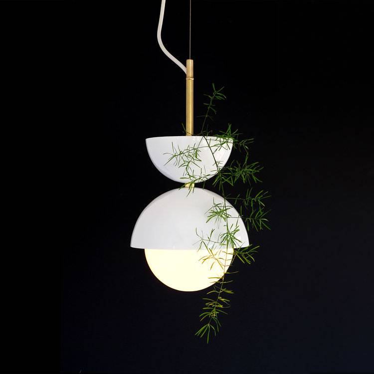 Find space a bit of greenery in your home with the hemisphere pendant light