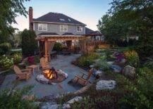 Fire Pit in Backyard