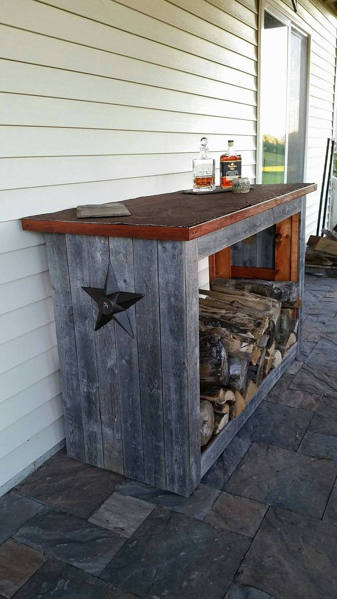 Firewood Rack and Counter