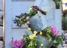 Flowers on vintage pots designed creatively