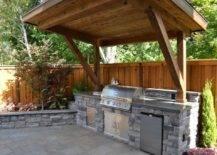 Full Rustic Outdoor Kitchen