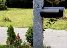 Granite Mailbox Post.