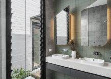 Green-tiles-for-the-contemporary-bathroom-with-ample-natural-light-25301-217x155