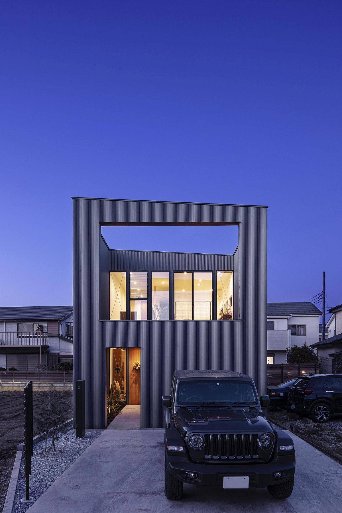 Innovative design of house I sets it apart from others in the neighborhood