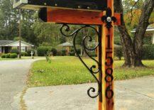 Iron and Wood Mailbox.