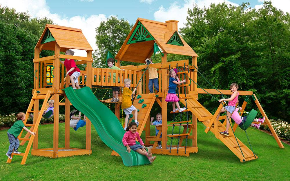 Kids playing in a playground