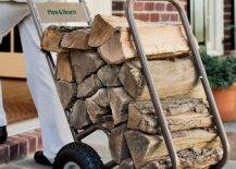 Metal Firewood Cart