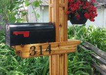 Mission Style Mailbox with Hanging Planter