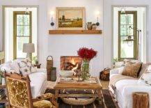 Modern-farmhouse-style-living-room-in-white-with-fireplace-wooden-beams-and-cozy-decor-40605-217x155