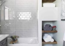 Narrow Wall Cabinet Towel Storage