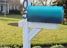 Ombre Colored Mailbox