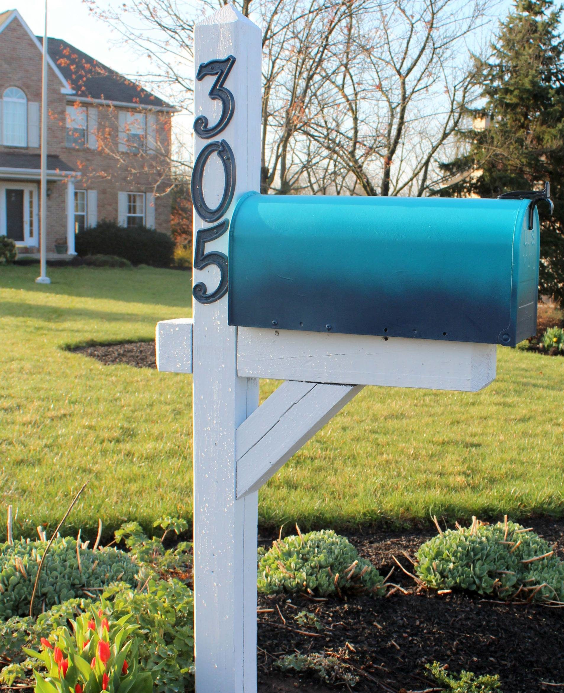 Ombre Colored Mailbox
