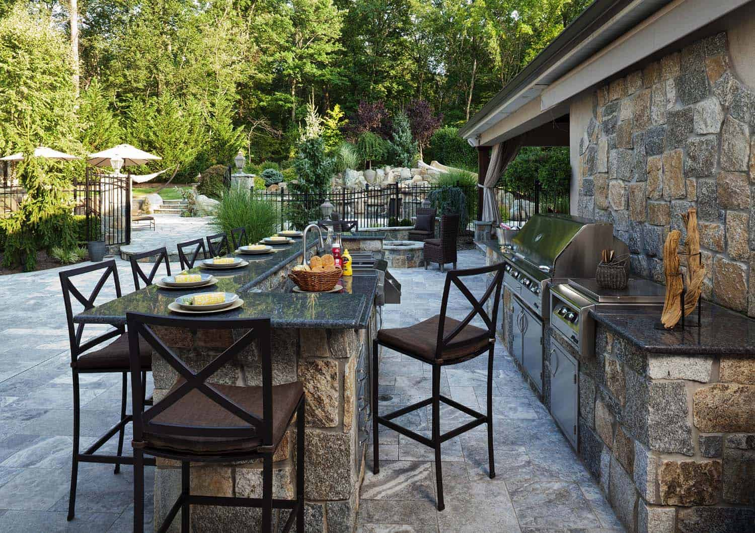 Outdoor Kitchen with Dining Area
