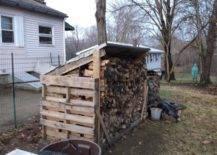 Pallet Rack for Firewood