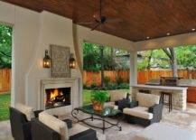 Patio Kitchen and Adjoining Living Room