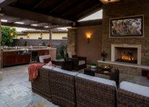 Patio Kitchen with Adjoining Living Room