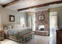 Picture-perfect-traditional-bedroom-with-wooden-beams-pastel-hues-and-stylish-brick-fireplace-39624-217x155
