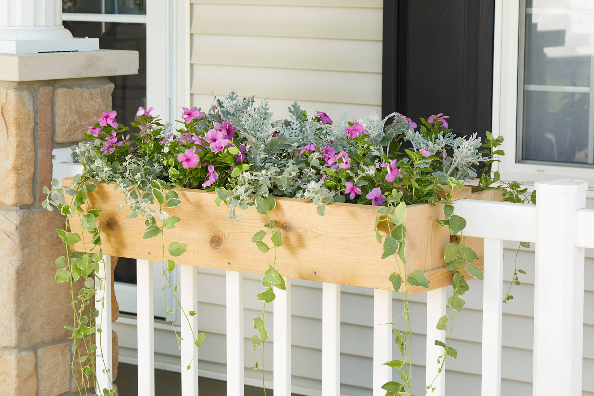 Planter in the railing