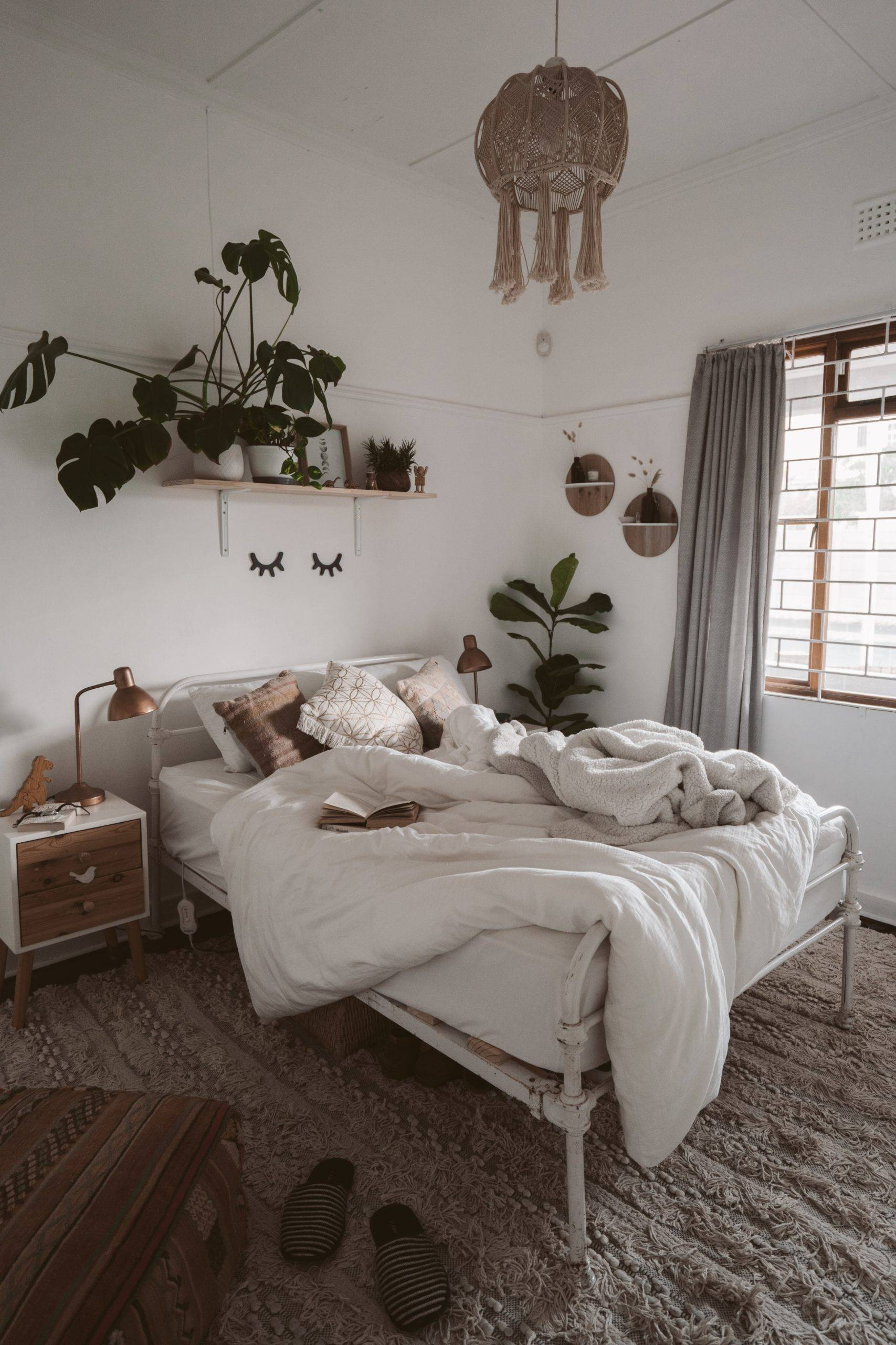 Plants above an unkept bed