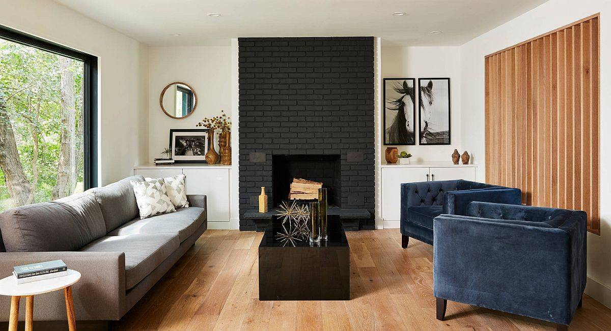 Polished-contemporary-living-room-with-dark-painted-brick-fireplace-45892