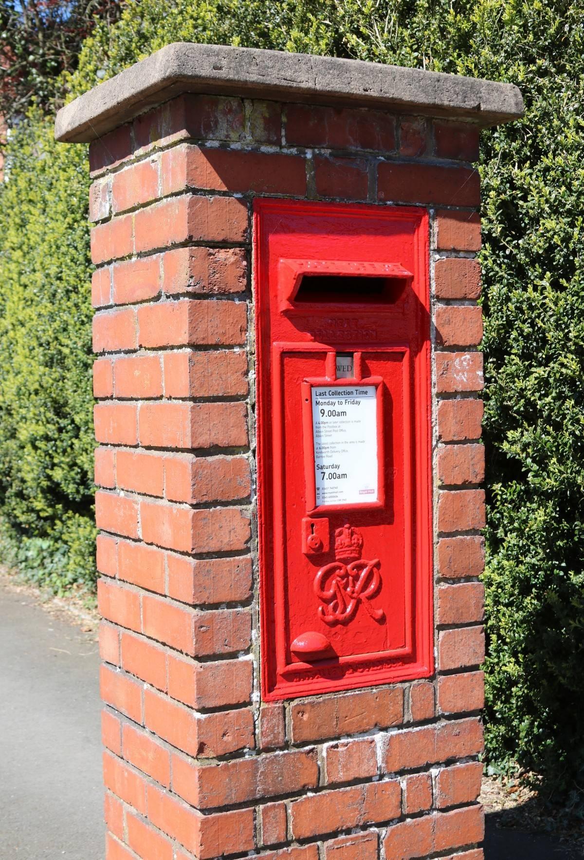 Red Brick Mailbox