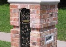 Red Brick Mailbox Post