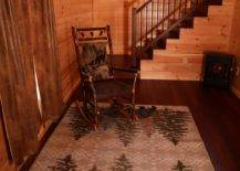 Rocking chair near the bottom of the stairs
