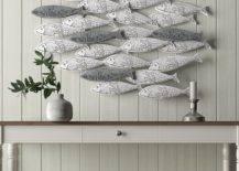 School of fish decor on wall