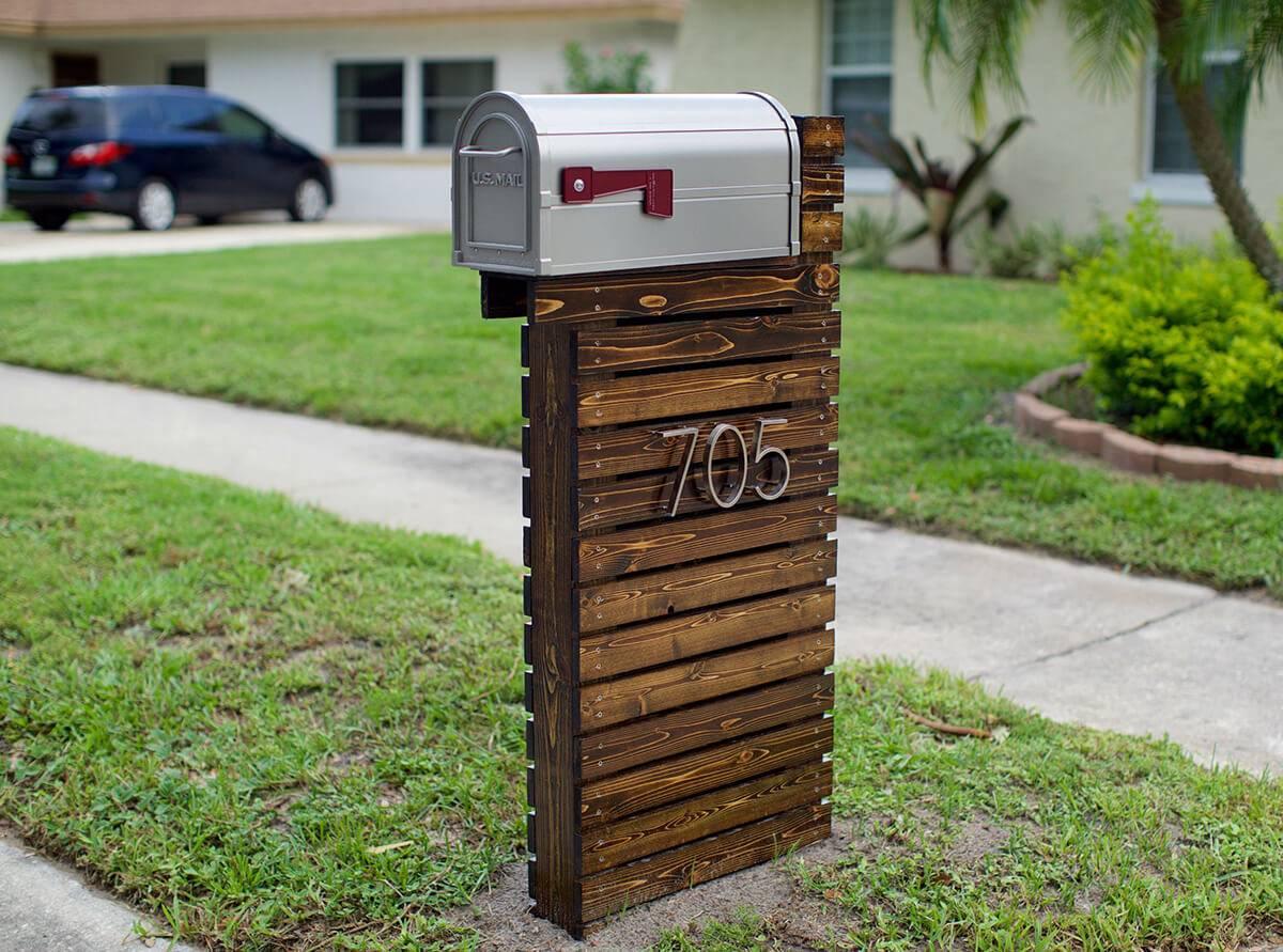 Shiplap Style Mailbox