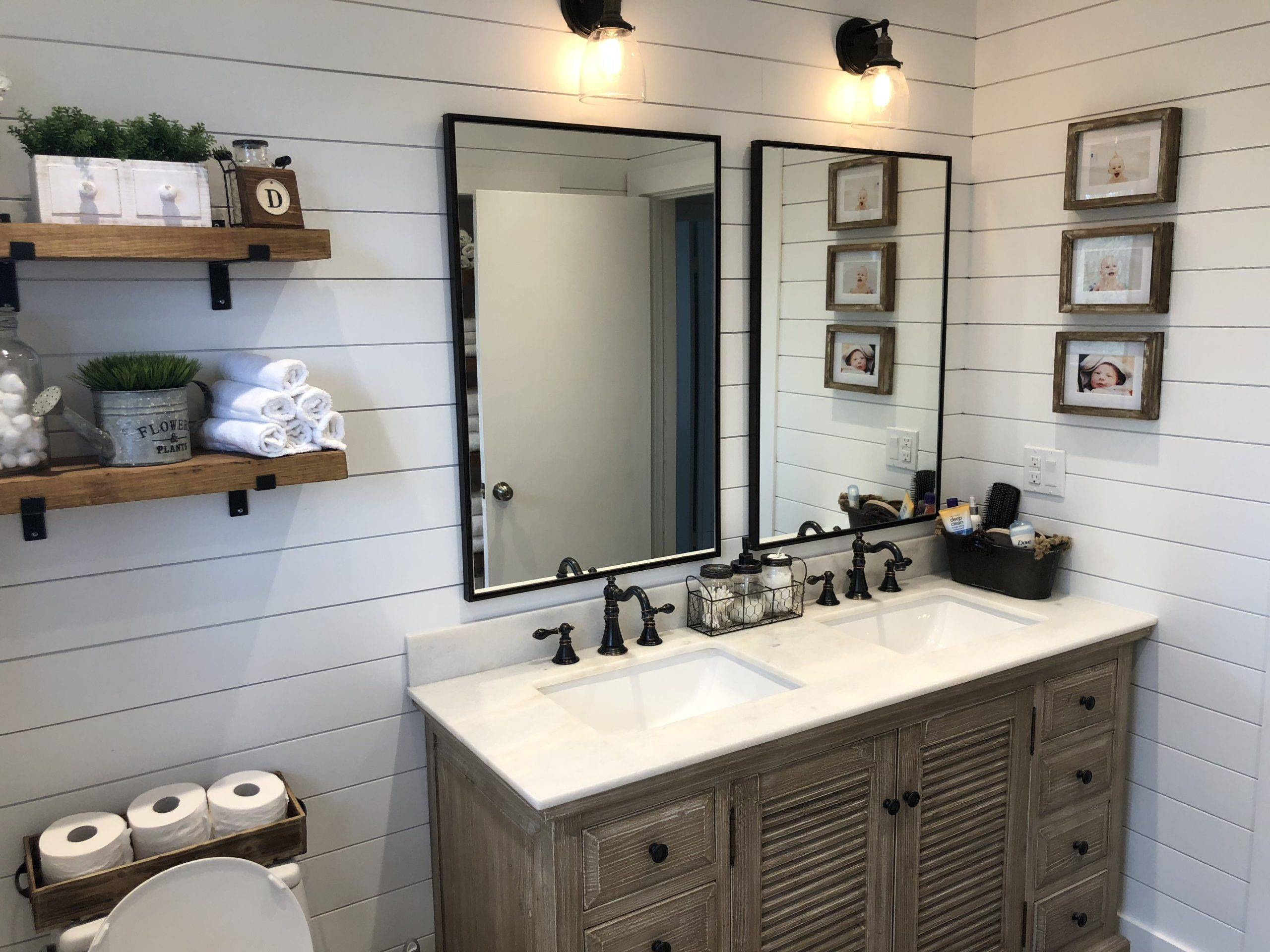 Shiplap Wall and Wood Accessories