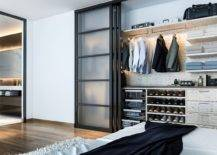 Sliding-frosted-glass-doors-used-for-the-small-mens-closet-in-the-contemporary-bedroom-46906-217x155