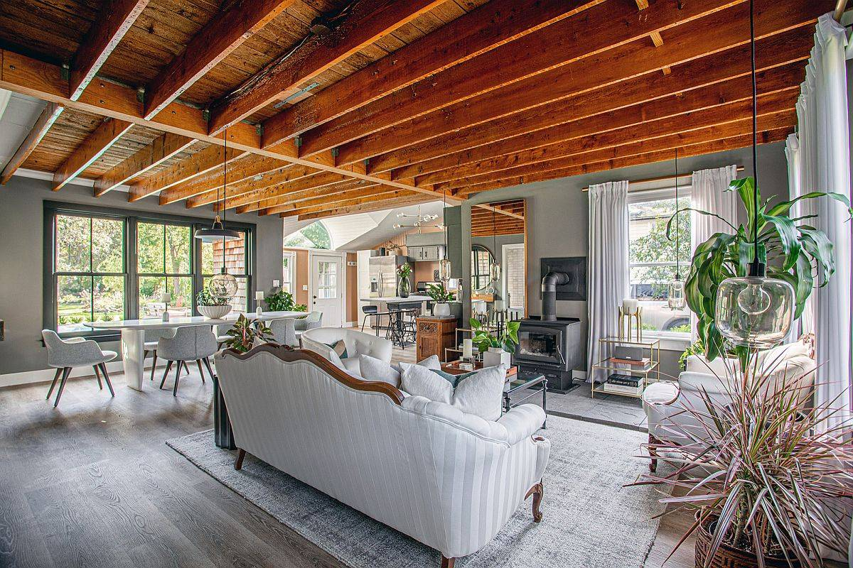 Small-and-elegant-modern-farmhouse-style-living-space-with-wooden-ceiling-47099
