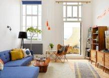 Smart-midcentury-modern-living-room-with-blue-couch-and-accent-pillow-in-yellow-26748-217x155