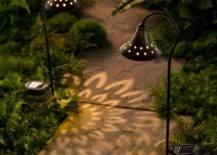 Solar Lanterns along Pathway