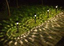 Solar Lanterns on Pathway