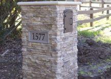 Stone Covered Mailbox