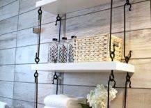 Suspended Towel Shelf