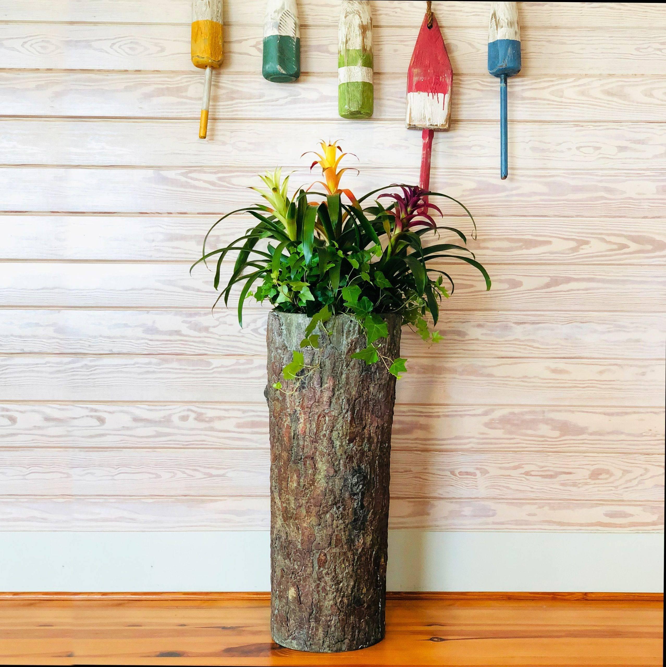 Tall Log Planter