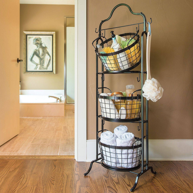 Tiered Towel Basket