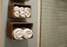 Tiered Towel Baskets
