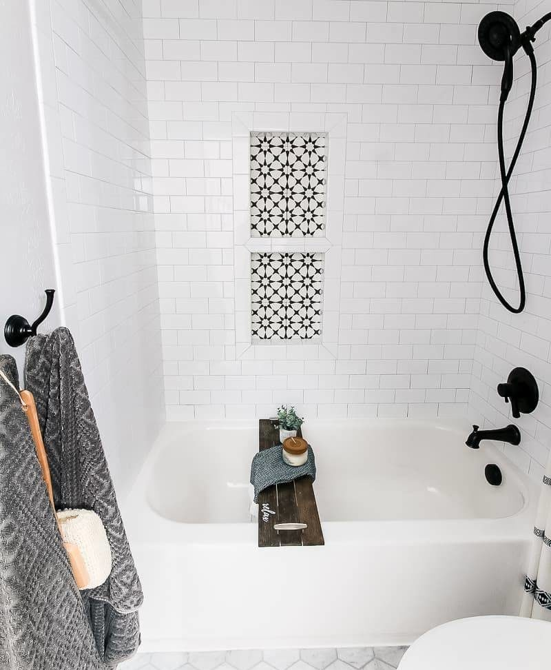 Tiled Bathroom with Bathtub