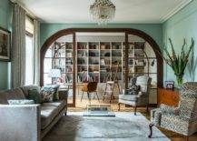 Trendy-modern-living-room-of-Moscow-home-with-pastel-green-walls-35915-217x155