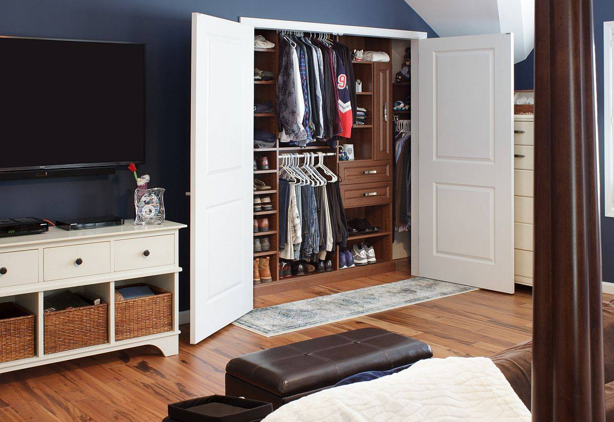 Turning the traditional closet into a modern storage masterpiece with bespoke wooden unit