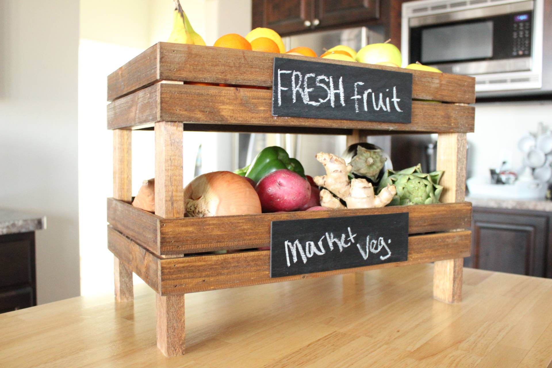 Two Layers Countertop Vegetable Holder
