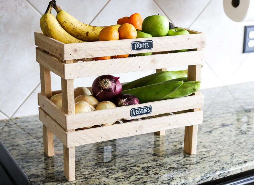 Two Layers Countertop Vegetable Holder.