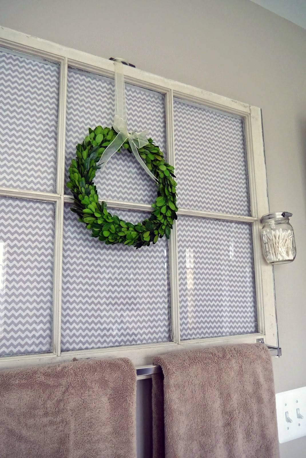 Upcycled Window Frame Towel Hanger